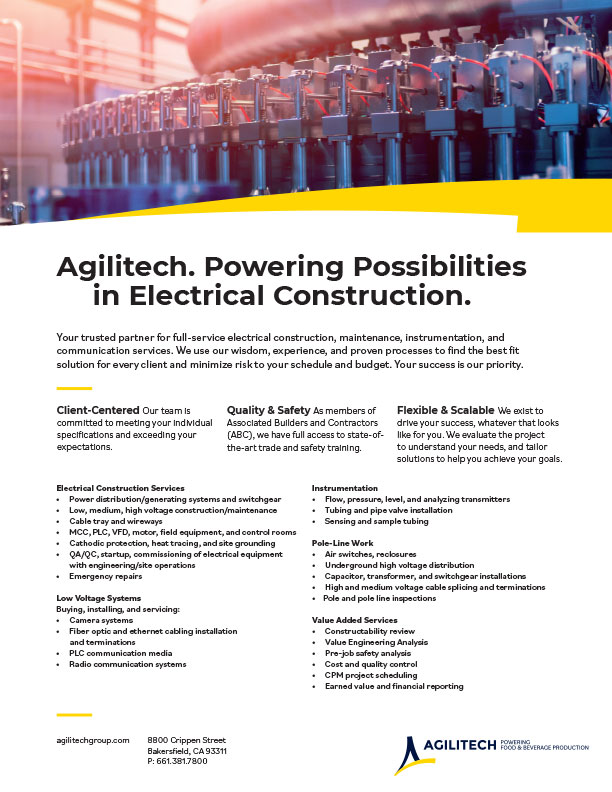 Agilitech Electrical Construction Services PDF Download