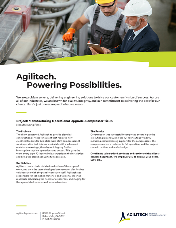 Project Flyer: Manufacturing Operational Uograde