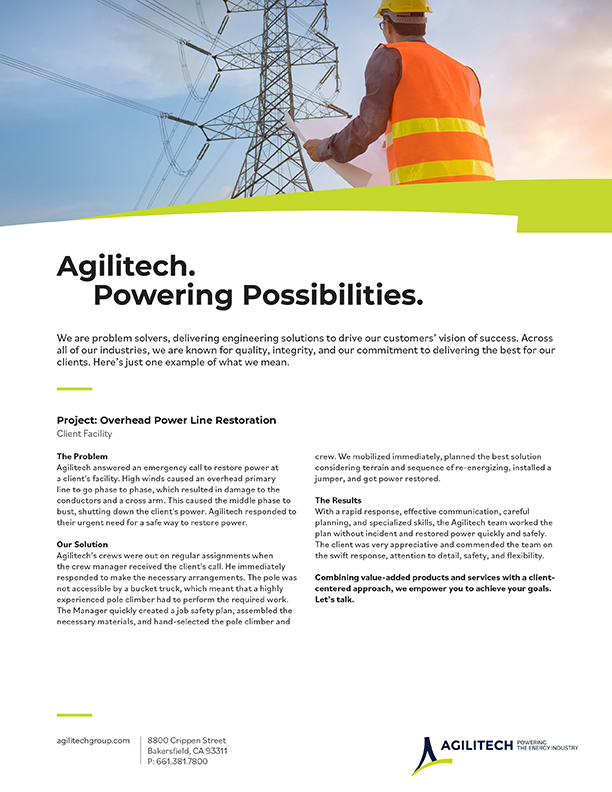 Project Flyer: Power Restoration