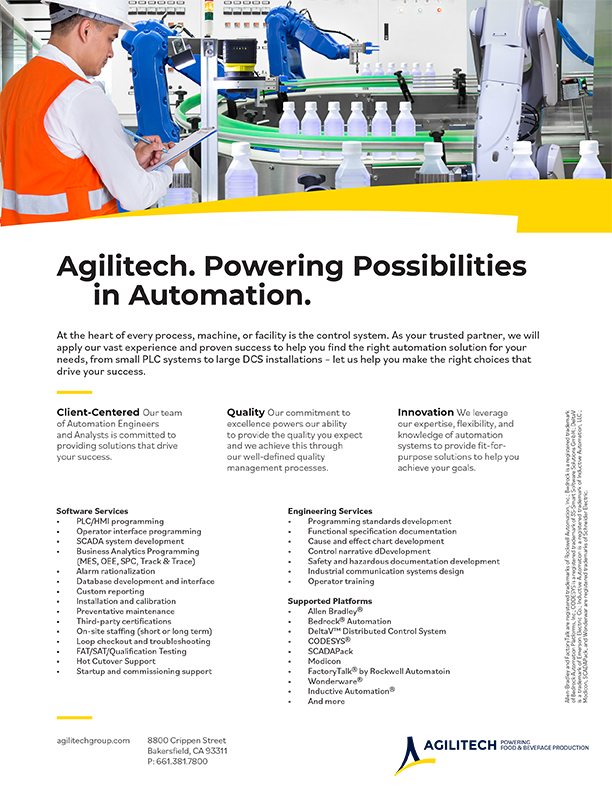 Food & Beverage Automation Services