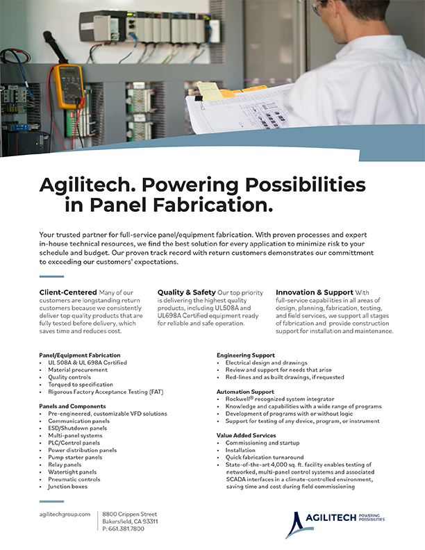 Agilitech Panel Fabrication Services